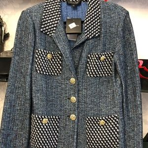 ST. JOHN Black Label Blue Caviar Jacket